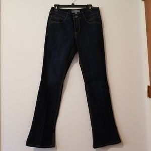 Wit and Wisdom dark blue bootcut jeans w/stretch